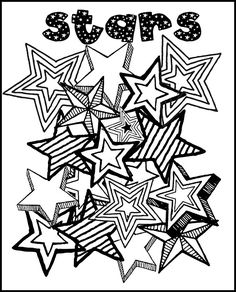 Stars grown up coloring page