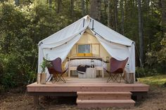 Camp Out in a Comfortable Tent or Airstream in Northern California - Dwell