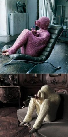 Innovative Full-Body Sweater.  I have a friend who's cold all the time.  They so need this!