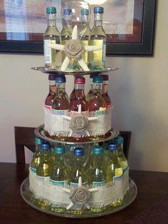 """Stock the bar wine bottle """"cake"""""""