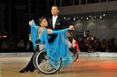 A Wheelchair Dancer Wears a Lovely Blue Dress
