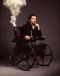 "HowStuffWorks ""Famous Steampunk Works"" Kenneth Branagh as Dr. Loveless from ""Wild, Wild West"" in a steam- powered wheelchairTimothy White/Warner Brothers"