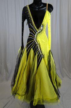 Elegant Black & Yellow Ballroom Dress