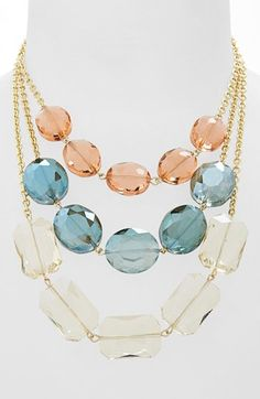 Guinevere Crystal Triple Strand Necklace available at #Nordstrom
