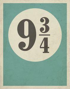 045348d839 Harry Potter Poster   9 3 4 Poster   Platform 9 3 4 Platform 93 4 Poster   Harry  Potter Minimalist Poster