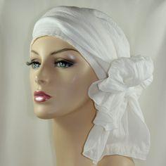 women head wrap | Cotton Gauze Turban Hat Head Wrap Chemo Alopecia by TurbanDiva