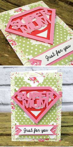 Super Mum Mothers Day Card | DIY Mothers Day Cards for Teens