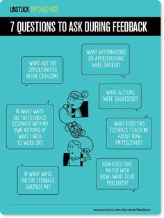 Unstuck tip card #33: 7 questions to ask during feedback