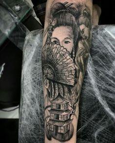 1° sessão Gueixa tatuagem do parceiro Vinícius ... #tattoo #tattooist #tattooartist #toptattooartists ...