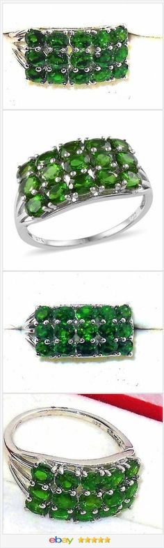 Russian Chrome Diopside ring 3.50 carats size 9  50% OFF #ebay http://stores.ebay.com/JEWELRY-AND-GIFTS-BY-ALICE-AND-ANN