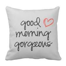 Shop Good Morning Gorgeous throw pillow soft grey created by MaybeDesigns. Good Morning Gorgeous, Housewarming Party, Morning Images, Pillow Design, Decorative Throw Pillows, House Warming, Bed Pillows, Great Gifts, Crafts