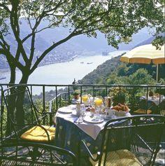 Breakfast at Castle Hotel & Restaurant Schoenburg Oberwesel Rhine River Germany