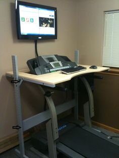 IKEA Hackers: Jerker treadmill desk. walk while you work. Who woulda thought?! Now if you could make the treadmill a generator and make it run the laptop....