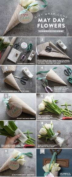 Make Your Own May Day Basket   Printable Tags