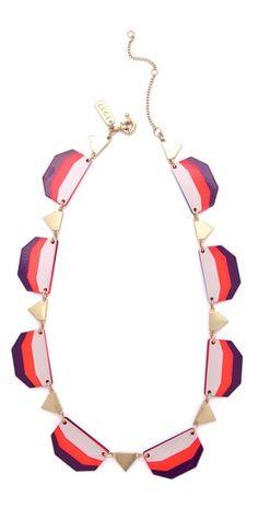 Colorblock Enamel Necklace