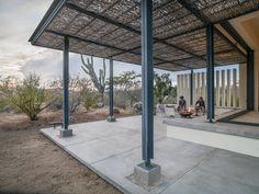 desert veranda / Zacatitos 002 - Campos Leckie Studio - love the simplicity of the steel columns and beams