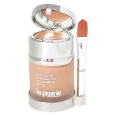 built in concealer in the lid.  excellent coverage, goes on smooth, lasts all day.