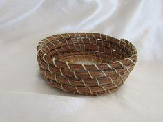 Handmade Pine Needle Basket by KandApineneedlebskt on Etsy