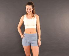 Conscious Clothing, sustainable, handmade, eco friendly, low impact, hemp yoga shorts