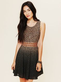 Leopard Daisy Fit and Flare Dress on sale at Free People - Multiple Locations