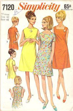 Vintage Sewing Pattern Plus Size Madmen Dress A line by TenderLane, $9.00