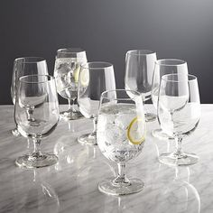 Set of 8 Boxed Water Goblets | Crate and Barrel