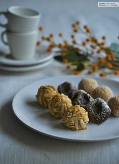 Panellets. Receta Tapas, Cereal, Almond, Cookies, Breakfast, Desserts, Friendship Bracelets, Cupcakes, Foods