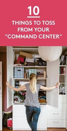 10 Things to Toss From Your Command Center | Want a quick and easy decluttering project to cross off your list? Transform this drop zone into a streamlined, orderly space by getting rid of (or cutting down on) the items listed below.