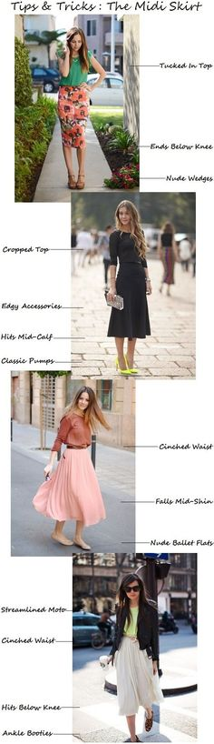 [How To Wear A Midi Skirt // Tips & Tricks]  Midi skirts are really interesting, but sometimes, a simple shirt and pants would be enough