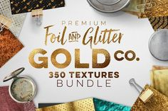 350 Gold & Metallic Textures Bundle by Zeppelin Graphics on @creativemarket