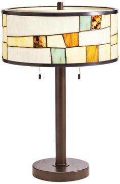 Kichler Mihaela Tiffany Style Shade Bronze Table Lamp -