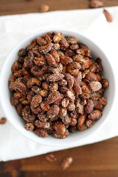 Moroccan Spiced Nuts / Girl vs. Dough 2 teaspoons cumin 1½ teaspoons cinnamon 1 teaspoon coriander ½ teaspoon chili powder ½ teaspoon smoked paprika ¼ teaspoon allspice ¼ teaspoo...