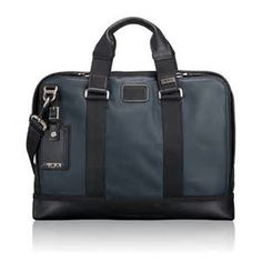 Tumi Anderson slim leather blue