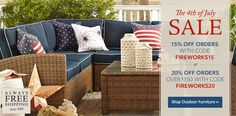 The 4th of July Sale: Shop Outdoor Furniture