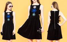 Vaynee #Flower Patch Apron #Dress - Shallowmint.com