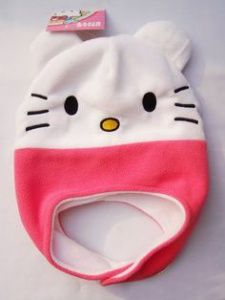 Fleece Projects, Cute Sewing Projects, Fleece Patterns, Hat Patterns To Sew, Hello Kitty Costume, Knitted Hats, Crochet Hats, Fleece Hats, Animal Hats