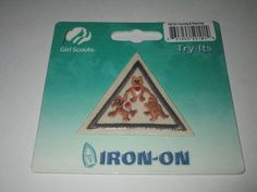 Girl Scout Brownie Iron On Badge ~  Caring & Sharing #59101 **NEW**
