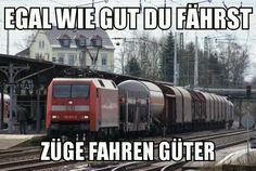 Züge fahren Güter