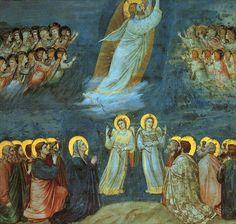Giotto di Bondone. Ascension. Eglise de l'Arena de Padoue (= chapelle Scrovegni). Fresque, 1303-1306. Wikimedia CC.