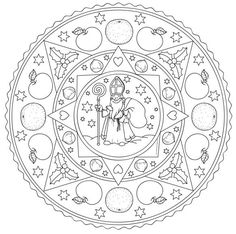 Idea trip: Coloring page for St Nicholas Day Christmas Crafts For Kids, Christmas Colors, Winter Christmas, Pipe Cleaner Animals, Christmas Mandala, St Nicholas Day, Coloring Pages For Grown Ups, Catholic Crafts, Christmas Coloring Pages