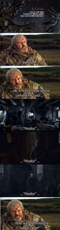 Some would say that, others would say HODOR #GameofThrones http://www.superherostuff.com/game-of-thrones-merchandise.html