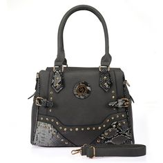 Sally Young grey snakeskin and rhinestone detail shoulder bag. Specification: Zip closure One zip pocket and two accessories pockets inside Double handle grabs Adjustable & removable shoulder strap Gold tone metal detailing Material: PU Size: x x Quality Lingerie, Stunning Dresses, Michael Kors Hamilton, Sally, Snake Skin, Clutch Bag, Shoulder Strap, Handbags, Detail