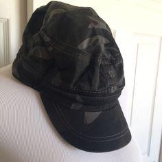 Woven Camo Military Baseball Hat Cap Sz L-XL NWT Green Grey Camouflage #BaseballCap