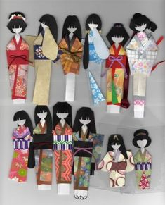 Japanese Angled Ningyo Forms-Kimono Origami Doll Book - $25
