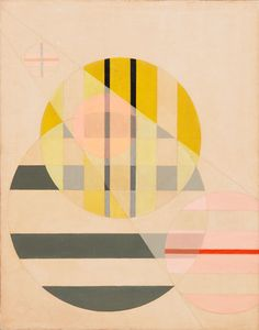 """""""Z II."""" 1925. László Moholy-Nagy (1895-1946) made this work while he was teaching at the Bauhaus, exploring the intersection of abstract elements in abstract space. Broken forms, in varying degrees of transparency, slide past each other on illusory spatial planes, illustrating the artist's longtime interest in the function and effects of light. He also experimented with photography—a medium closely aligned with the credo of the Bauhaus: """"Art and Technology: A New Unity.""""."""