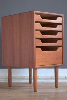 Torben Strandgaard Teak Filing Cabinet for Falster, c1960.