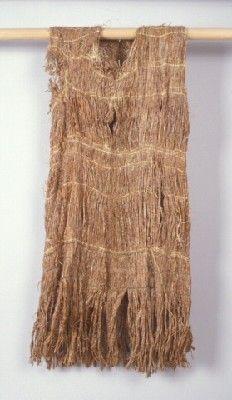 Cedar Bark Dress - Ethnology Collections Database - Burke Museum - Coast Salish| Cedar bark shredded, twined, raffia
