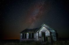 Milky Way over Cabin in Idaho