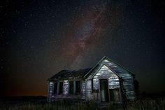 Milky Way over Cabin in Idaho