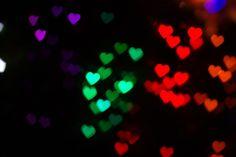Heart shaped bokeh photography example